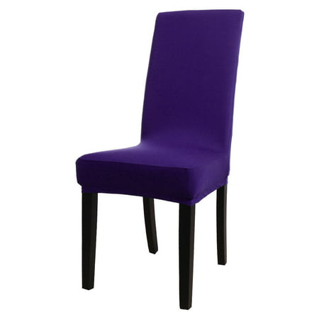 Stretch Polyester Spandex Dining Chair Covers Protector,Solid Color