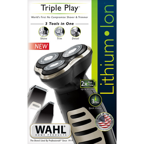 Wahl 9880-100 Lithium Ion Triple Play Shaver and Trimmer