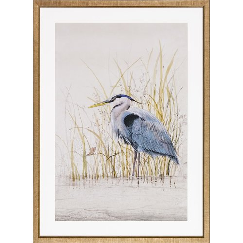 Art Virtuoso Heron Sanctuary by Tim O'Toole Framed Painting Print by Art Virtuoso