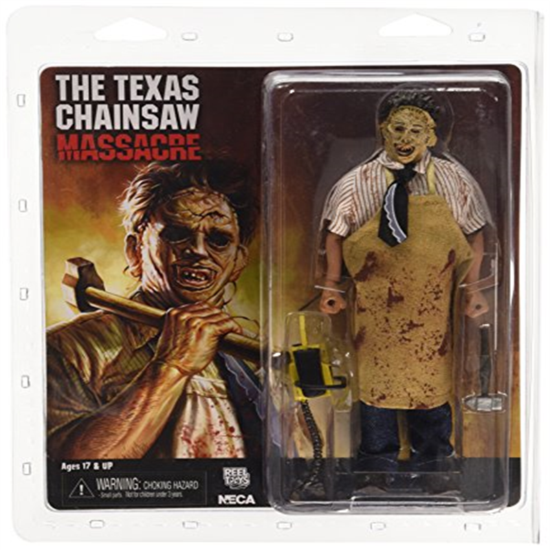 """The Texas Chainsaw Massacre Figures - 8"""" Clothed Retro Action Doll 40th Anniversary Leatherface"""