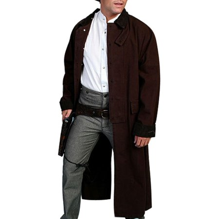 Scully Western Jacket Mens Old West Canvas Duster Button Front - Mens Western Duster