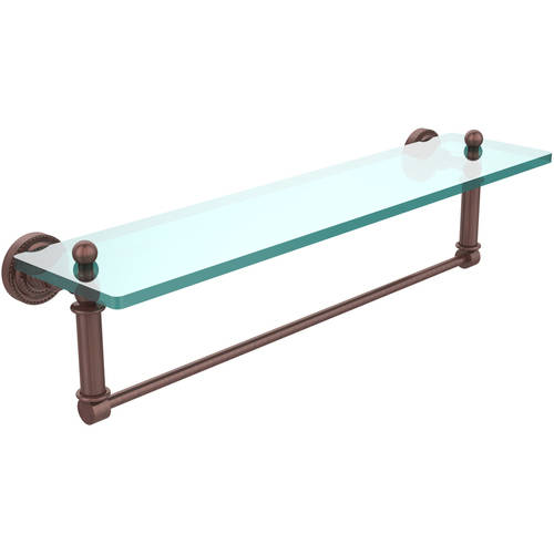 """Dottingham 22"""" Glass Vanity Shelf with Integrated Towel Bar (Build to Order)"""