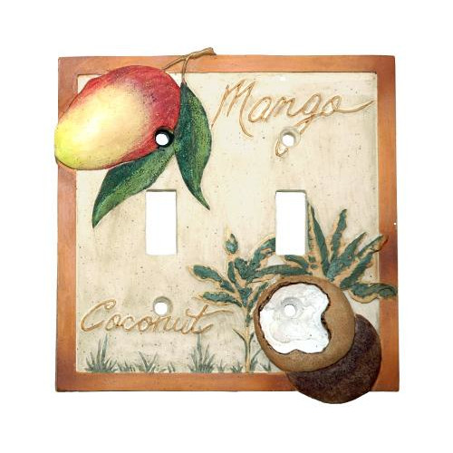 Borders Unlimited Mango Bay Double Switch Plate