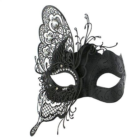 Coxeer Masquerade Mask Butterfly Laser Cut Metal Mardi Gras Mask Party Mask for Women