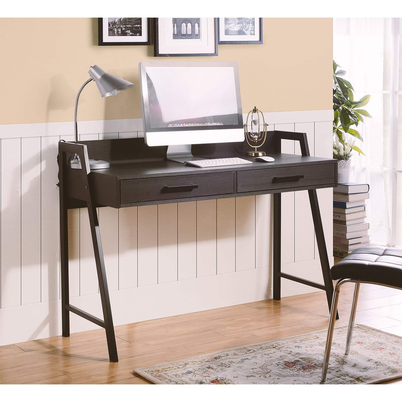 Homestar Rosalind writing desk in Dark Oak Finish