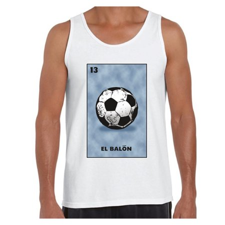 3aad753a4 Awkward Styles El Balon Card Tank Top Men s Mexican Tank Posadas Outfit  Mexican Party Gifts for Him Mexican Bingo Card Muscle Tank Mexican Card  Game ...