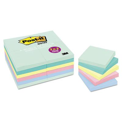 Post-it Notes Original Pads in Marseille Colors