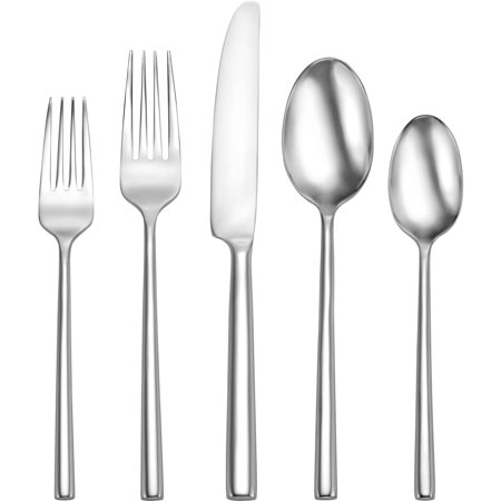 Oneida Porter Stainless Steel Flatware Set, 20 Piece 3 Piece Hostess Set Flatware