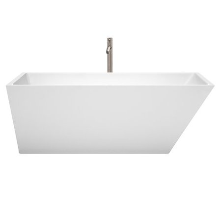 Wyndham Collection Hannah 67'' x 31.5'' Freestanding Soaking Bathtub