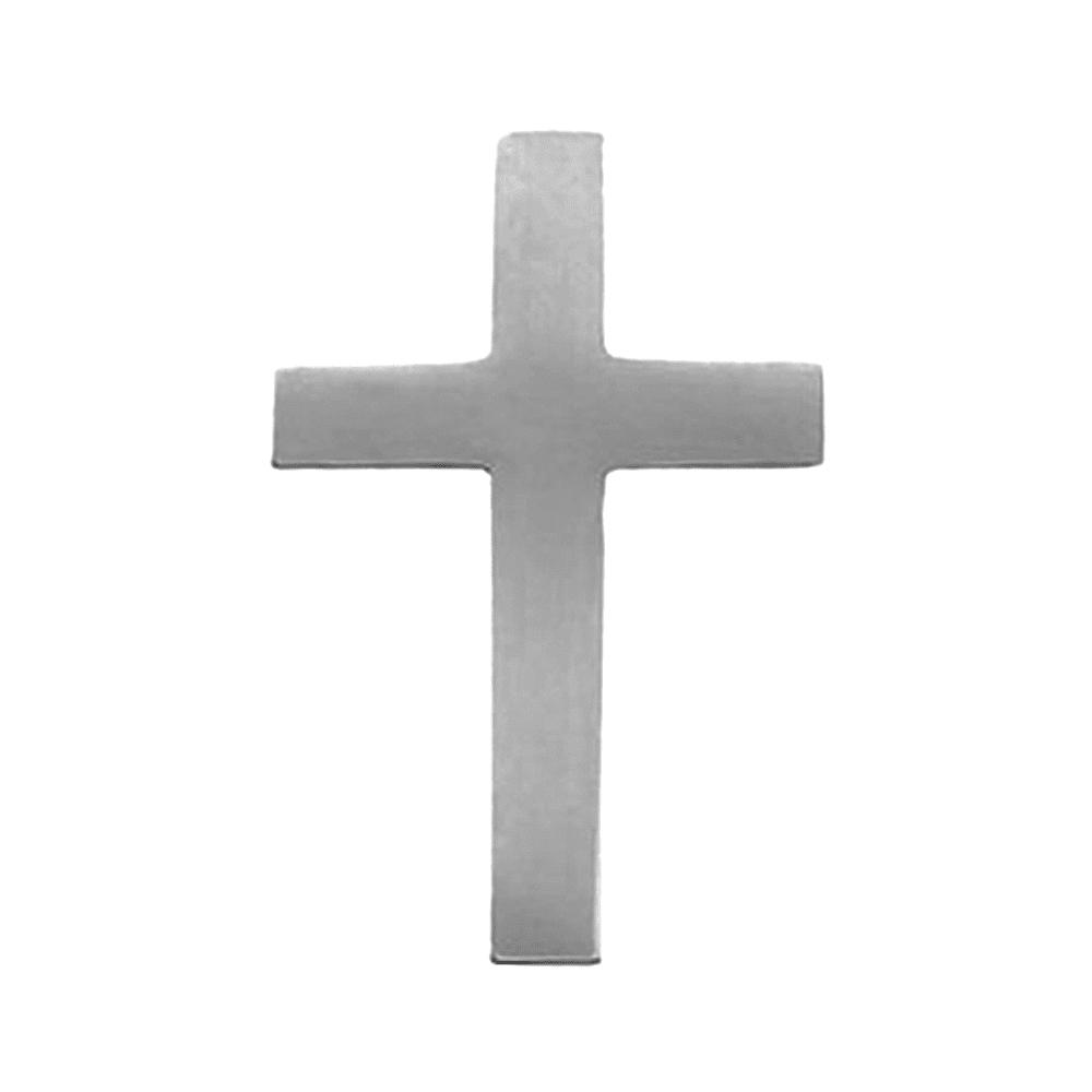 14K White Gold Cross Lapel Pin Brooch by