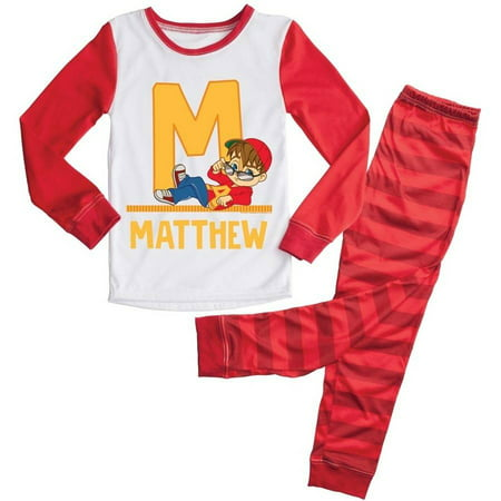 Personalized Mens Pajamas (Personalized Alvin and the Chipmunks Toddler Initial Boys')