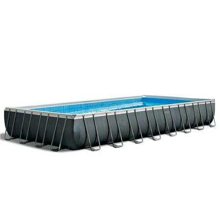 "Intex 32' x 16' x 52"" Ultra XTR Rectangular Above Ground Swimming Pool Set, Gray"