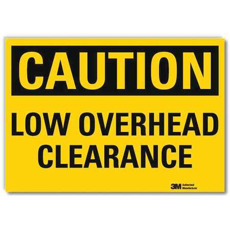 LYLE U4-1516-RD_7X5 Safety Sign,Overhead Clearance,5in.H G1812940