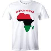 Africa Minha Map Crew Neck Design for Men T-Shirt