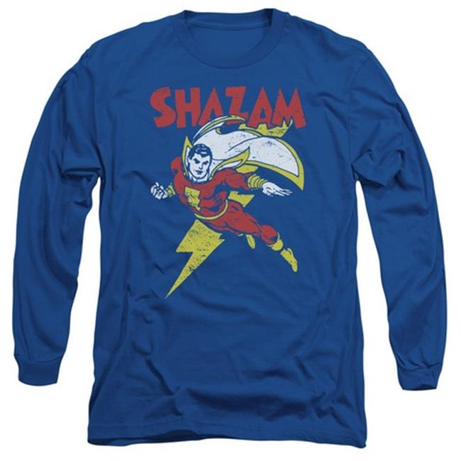 Trevco Dc-Lets Fly - Long Sleeve Adult 18-1 Tee - Royal Blue, Small