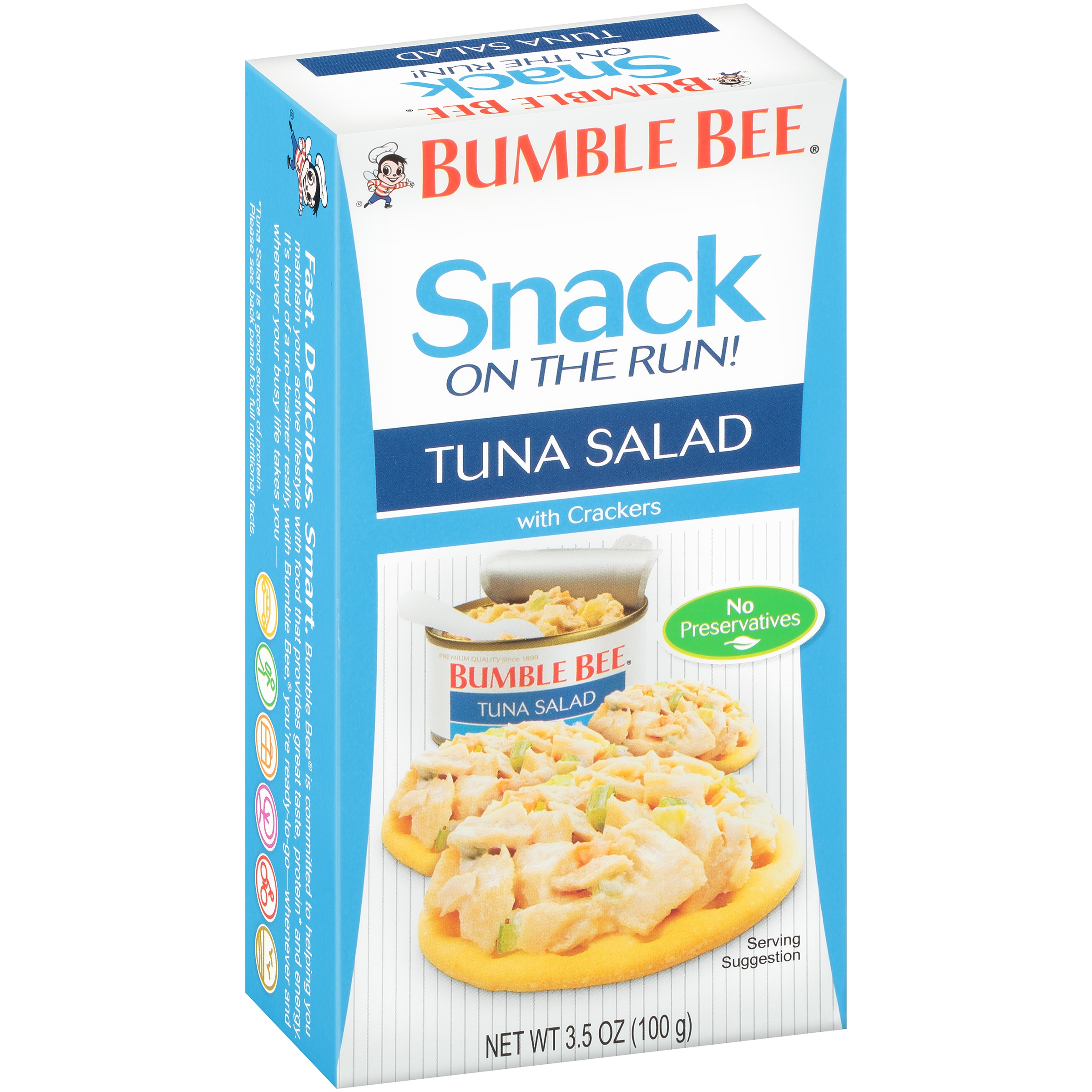 Bumble Bee Snack On The Run! Tuna Salad with Crackers, 3.5 oz Kit