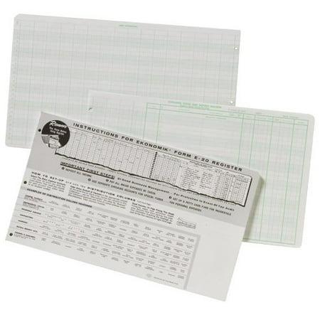 ekonomik check register form 8 75 x 14 75 sheet size white