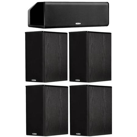 Cs10 Stereo - Polk Audio Bundle: TSi200 Bookshelf Speakers Two Pair, and CS10 Center Channel Speaker in Black
