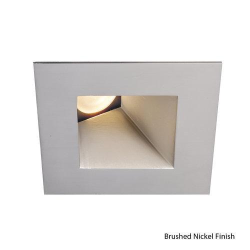 WAC Lighting Tesla LED 3in Wallwasher Square Trim Warm Light 3000K Brushed Nickel