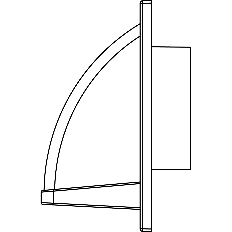 Gray WC310 Heavy-Duty Plastic Range Hood Vent R BUILDERS BEST 111872 Nemco
