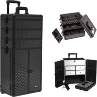 d7634e7e4f Product Image Sunrise Black Dmnd Trolley Makeup Case - I3365