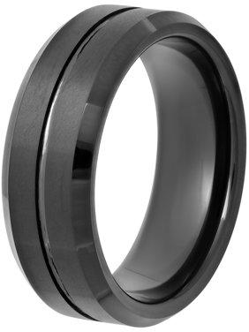 Men's Black Tungsten 8MM Comfort Fit Wedding Band - Mens Ring
