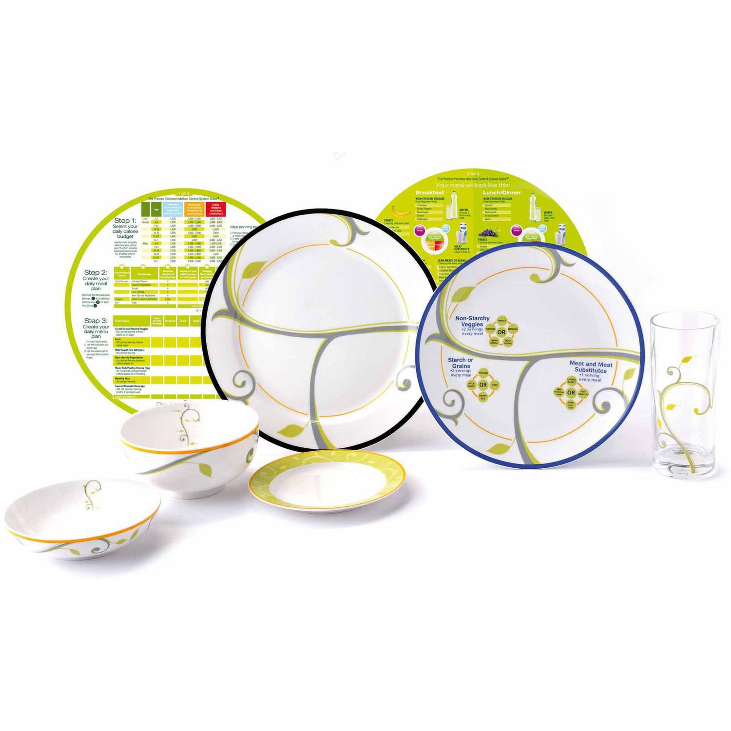 portion control plates precise portions complete lifestyle starter weight loss 13085