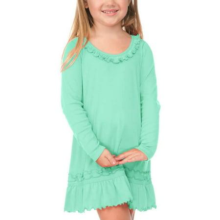 Girls Hot Pink Dresses (Kavio! Little Girl 3-6X Sunflower Long Sleeve Dress Hot Pink)