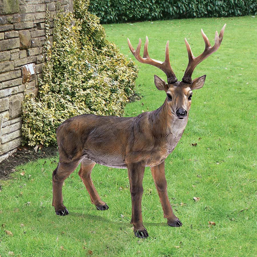 Big Rack Buck Deer Statue by Design Toscano