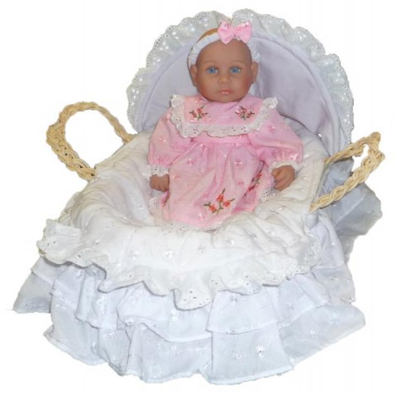 """Molly P Originals Alexa 13"""" Baby Doll with Basket"""