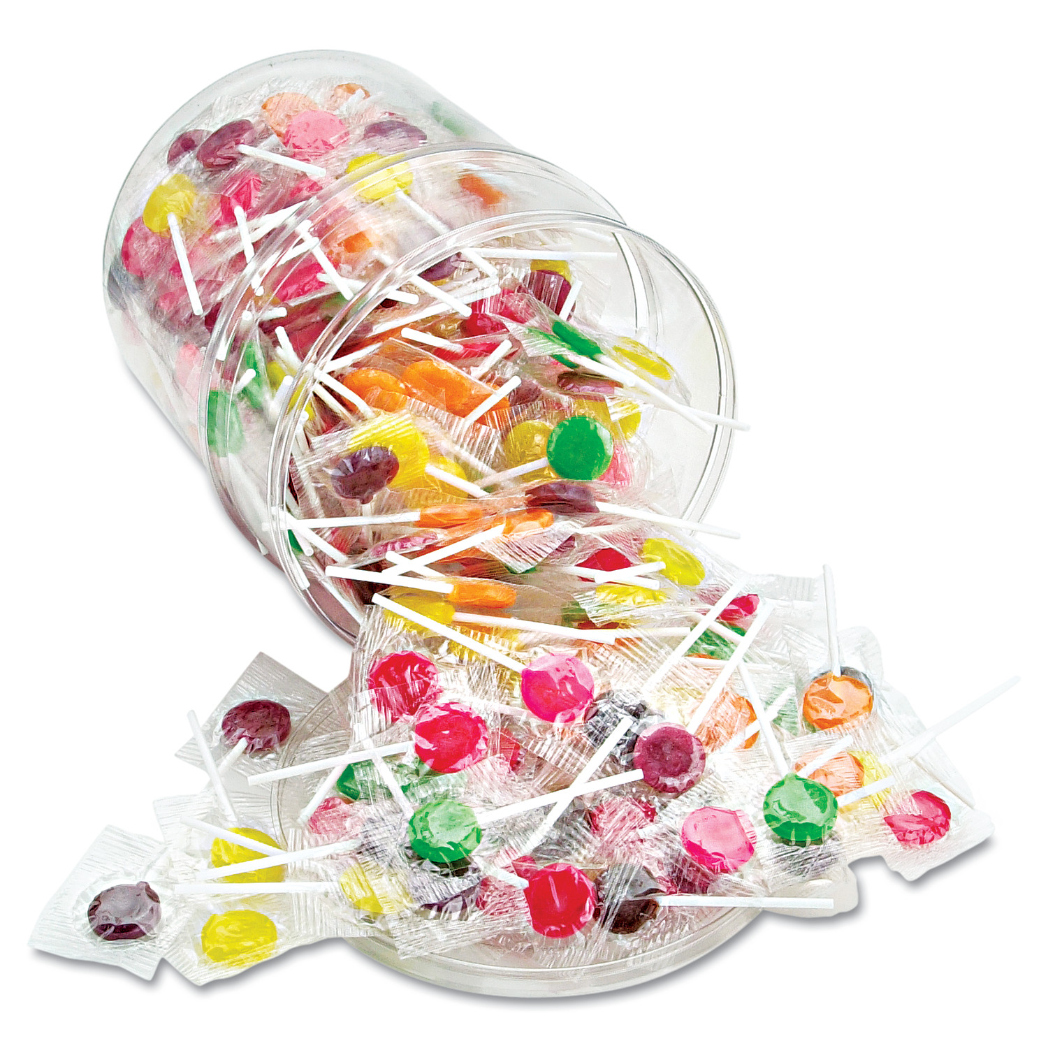 Office Snax Sugar-Free Suckers, Assorted Flavors, 32oz Tub