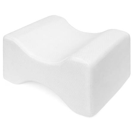 Best Choice Products Orthopedic Memory Foam Knee Pillow w/ Ergonomic Contour Design for Sciatic, Back, Leg,