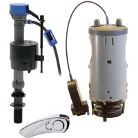 Fluidmaster 550DFRK-3 Duo Flush Complete Fill and Dual Flush Toilet Conversion System