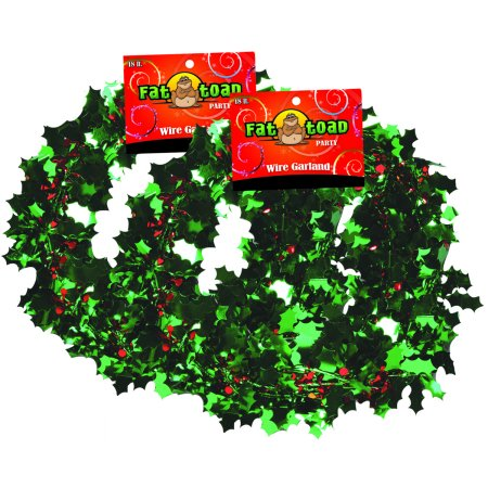 Garland Mardi Gras Stars Party Decoration 18 Feet - 2 Pack Fat Toad