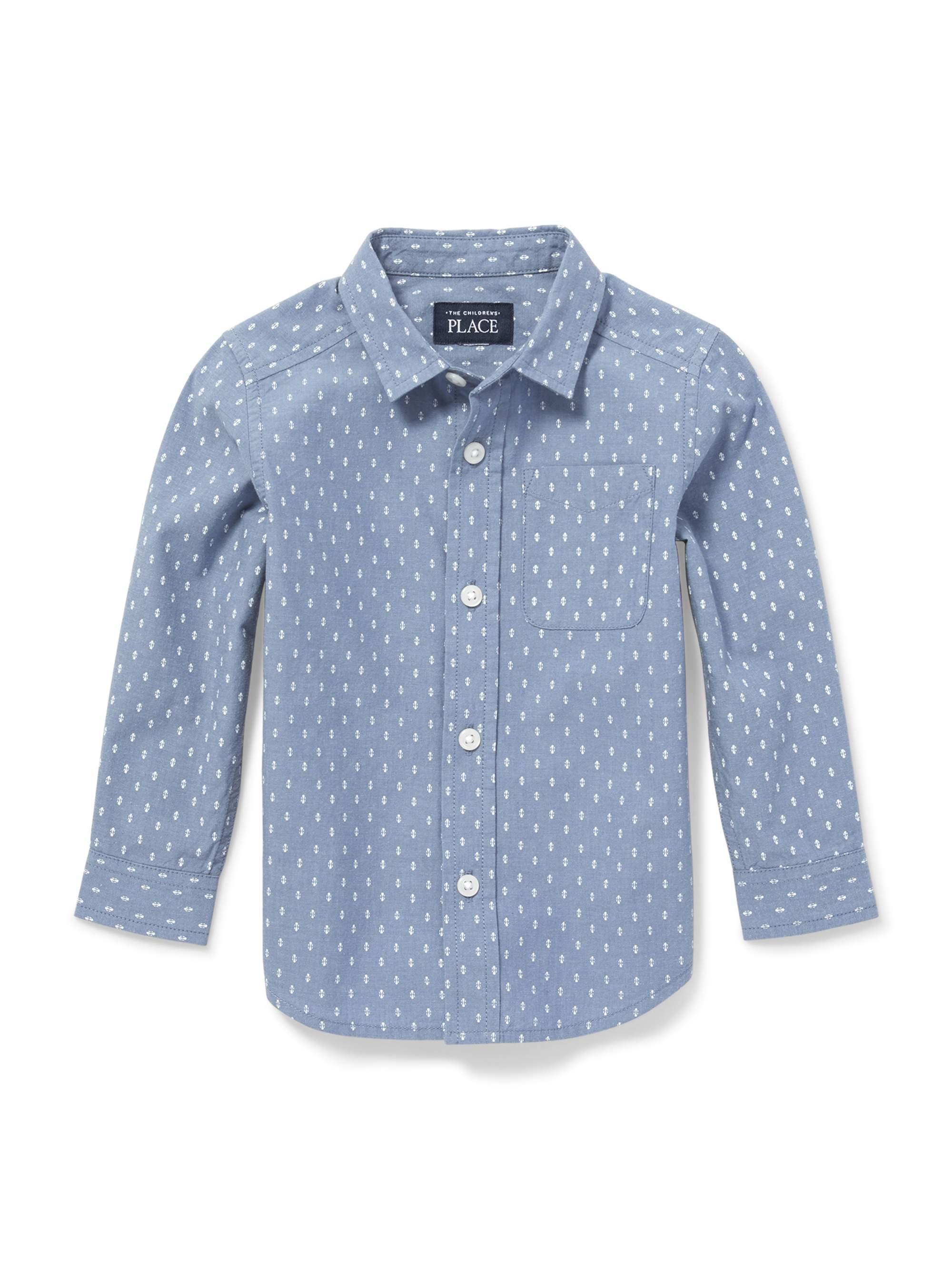 Long Sleeve Printed Poplin Button-Down Shirt (Baby Boys & Toddler Boys)