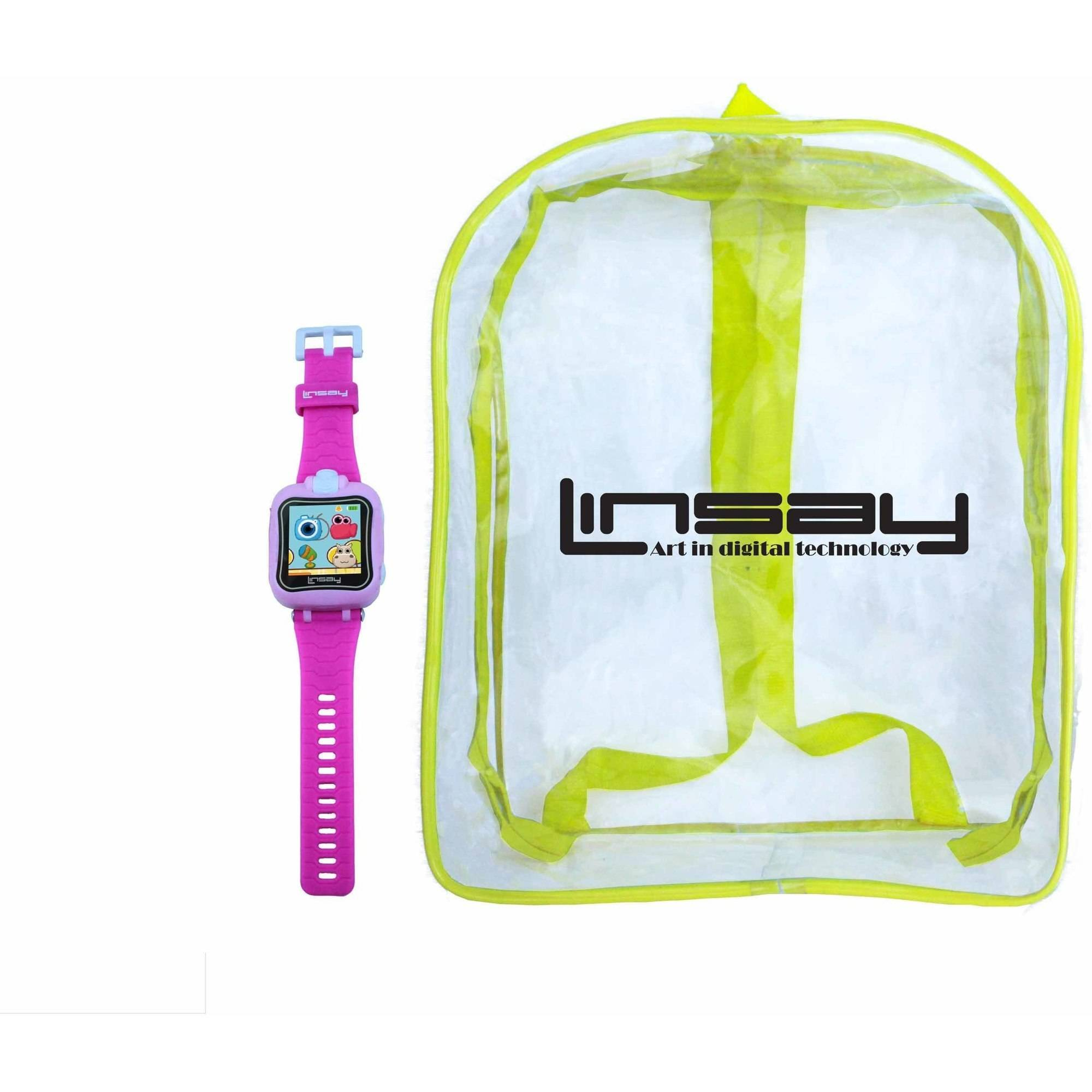 """LINSAY 1.5"""" Kids Smart Watch HD Selfie Cam with Kids Bag Pack by Linsay"""