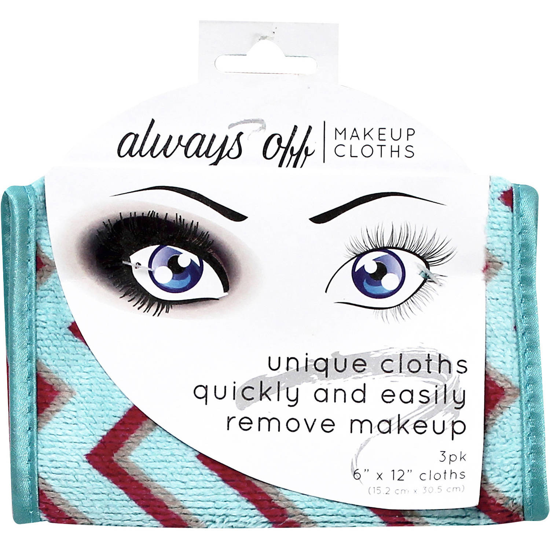 S T Always Off Makeup Cloths 3 Pack
