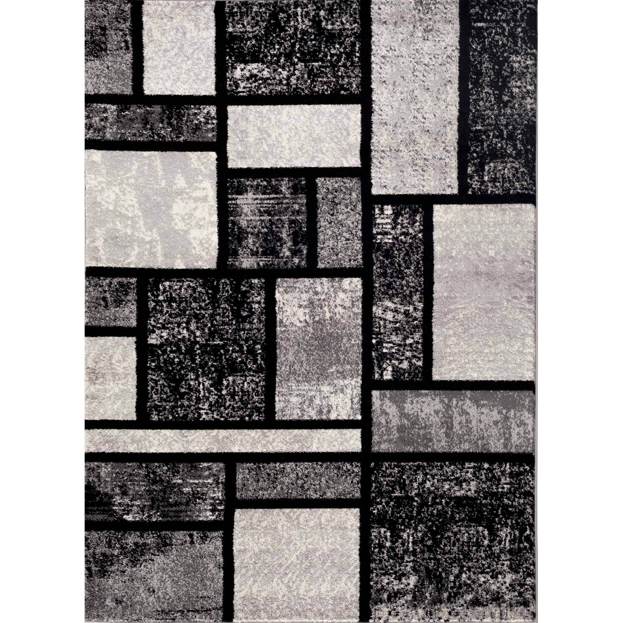 World Rug Gallery Contemporary Modern Boxes Design Indoor Area Rug