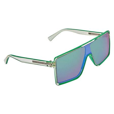 MARC JACOBS Mirror Green Shield Unisex Sunglasses MARC 220/S (New Marc Jacobs Sunglasses)