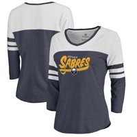 Buffalo Sabres Fanatics Branded Women's Hometown Collection 3/4-Sleeve Raglan Tri-Blend V-Neck T-Shirt - Navy