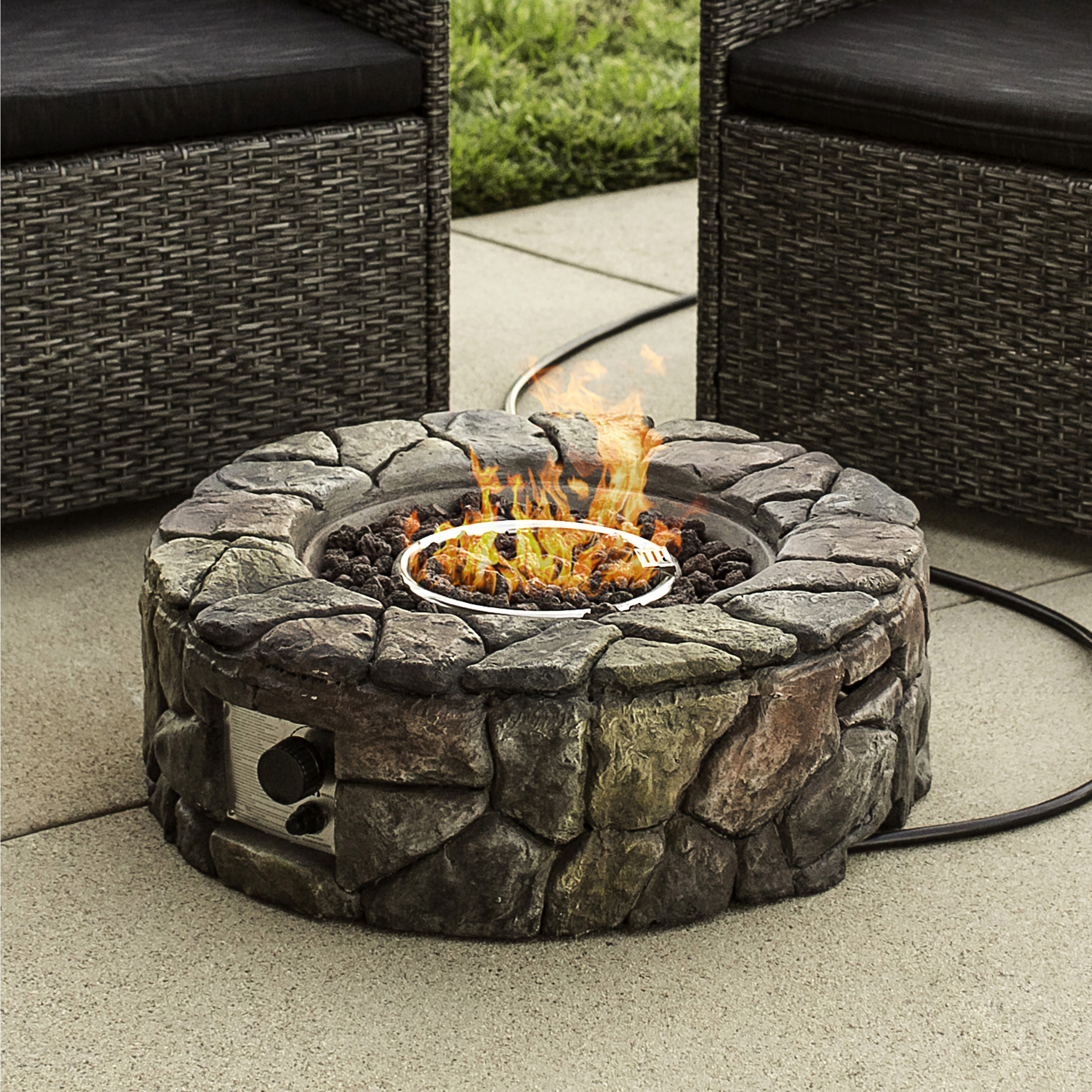 Best Choice Products Home Outdoor Patio Natural Stone Gas