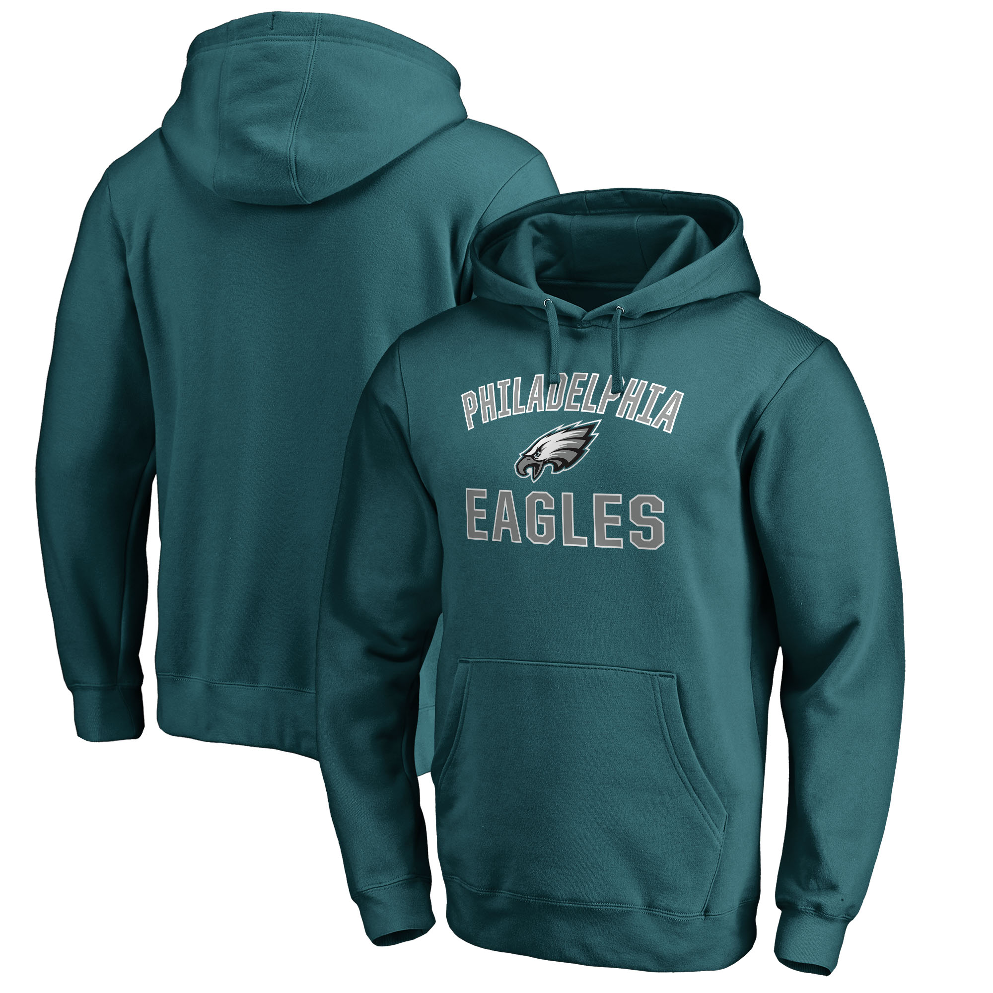 Philadelphia Eagles NFL Pro Line by Fanatics Branded Victory Arch Pullover Hoodie - Midnight Green