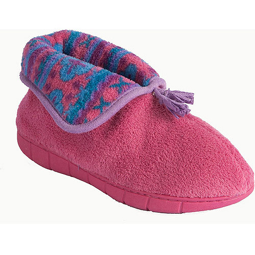 MUK LUKS Flower Fairisle Bootie Slippers