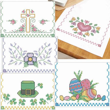 Herrschners® Spring Holiday Collection Table Runner Stamped Cross-Stitch](Spring Table Runners)