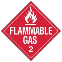 LABELMASTER 19TZ85 Placard,10-3/4inx10-3/4in,Flammable Gas G1864226