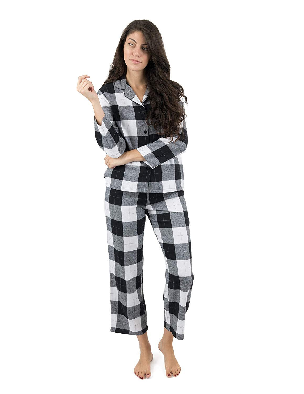 065fba083c Leveret - Leveret Womens Pajamas Flannel Pjs 2 Piece Christmas Pajama Set  Horse Size Large - Walmart.com