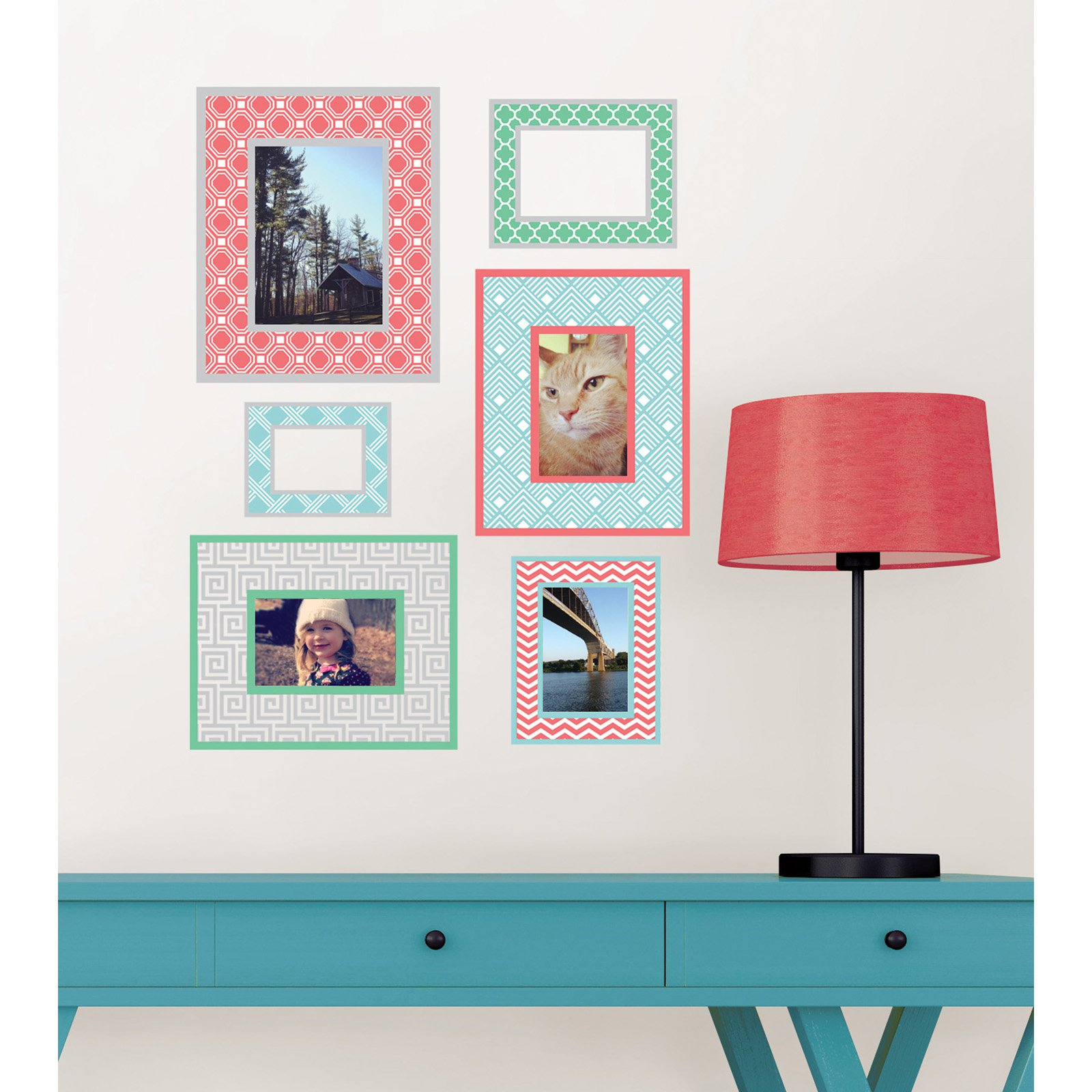 WallPops Geo Color Frame Wall Art Kit