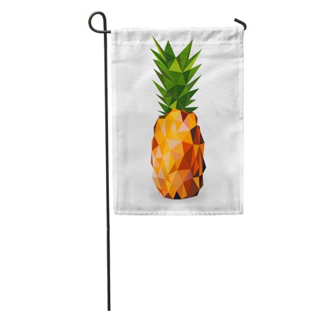 JSDART Colorful Graphic of Pineapple Rendered in Geometric Gem Food Shadow Garden Flag Decorative Flag House Banner 28x40 inch - image 1 de 2