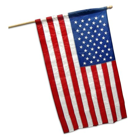 G128 – 2x3 feet American Flag | Embroidered 210D with POLE SLEEVE (No Pole) – Embroidered Stars, Sewn Stripes, Brass Grommets, Indoor/Outdoor, Vibrant Colors, Quality Polyester, US USA Flag