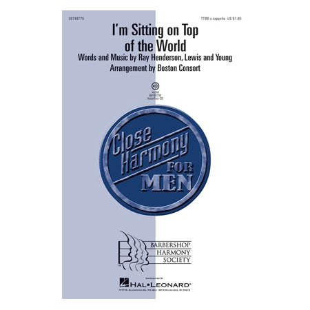 Hal Leonard I'm Sitting on Top of the World TTBB A Cappella arranged by SPEBSQSA,